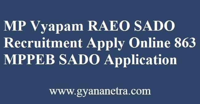 MP Vyapam RAEO Recruitment Application Form