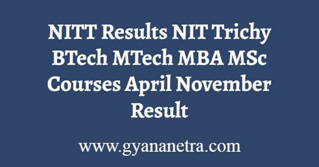 NITT Results