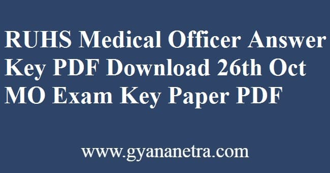 RUHS Medical Officer Answer Key