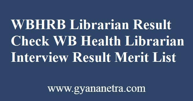 WBHRB Librarian Result