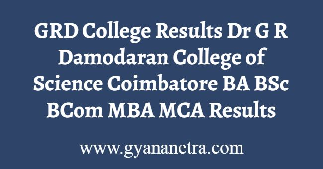 GRD College Results
