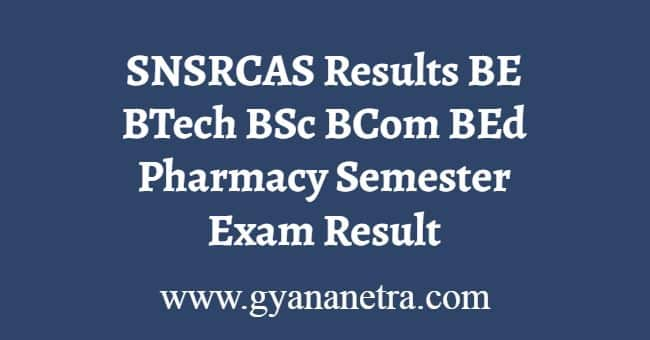SNSRCAS Results