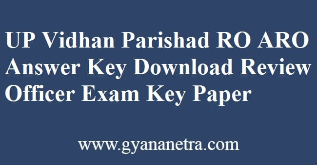 UP Vidhan Parishad RO ARO Answer Key