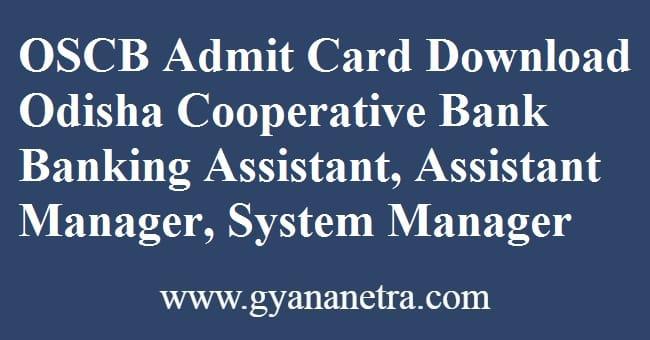 OSCB Admit Card Download Online