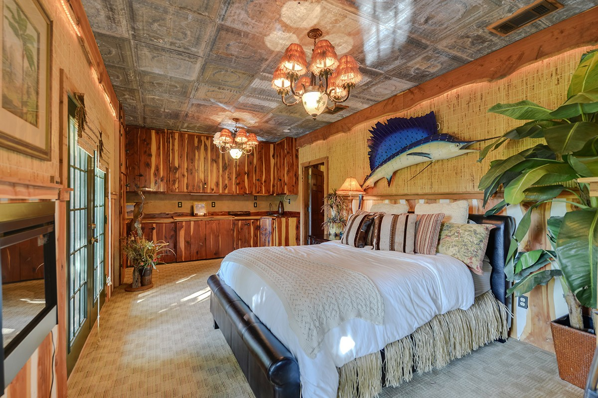large bedroom in main lodge
