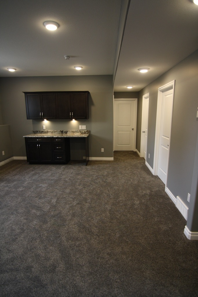 Saskatoon residential basement development by Krawchuk Construction Inc.