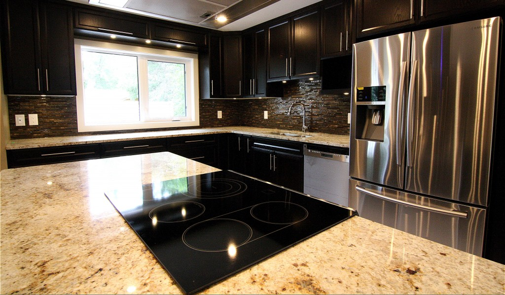 A brand new kitchen completed by Krawchuk Construction Inc.