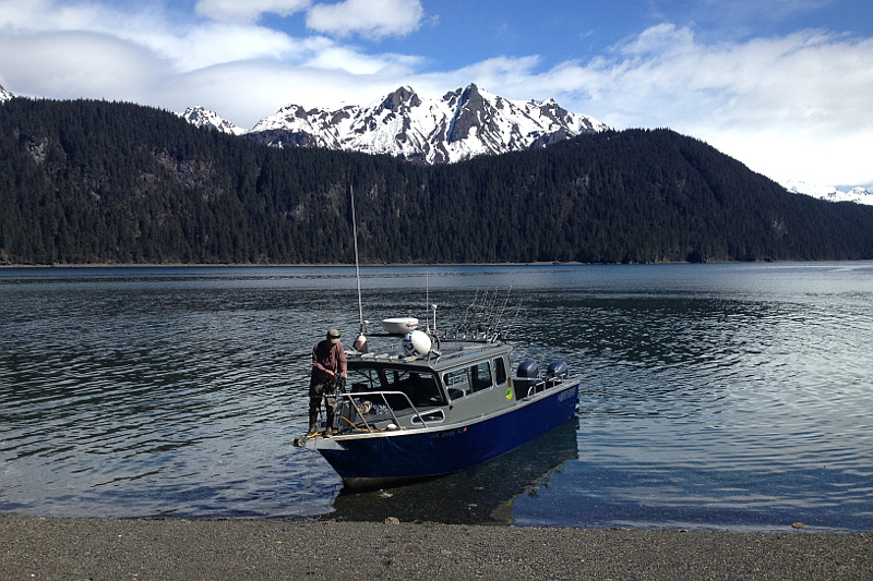 """The """"A&M"""", a fishing charter boat in Ninilchik owned by Gotta Fish Charters"""