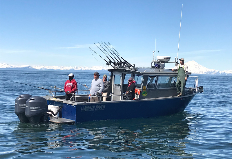 A gotta Fish Charters halibut boat in Cook Inlet Alaska