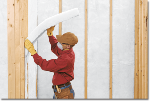Unfaced_R-13_Batt_Insulation_Wall_Install