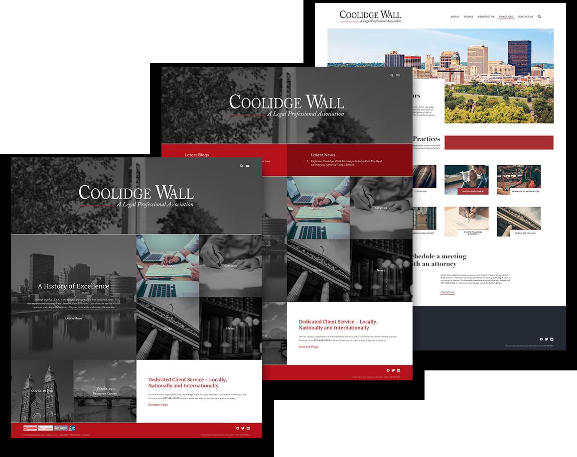 Coolidge Website Mockups