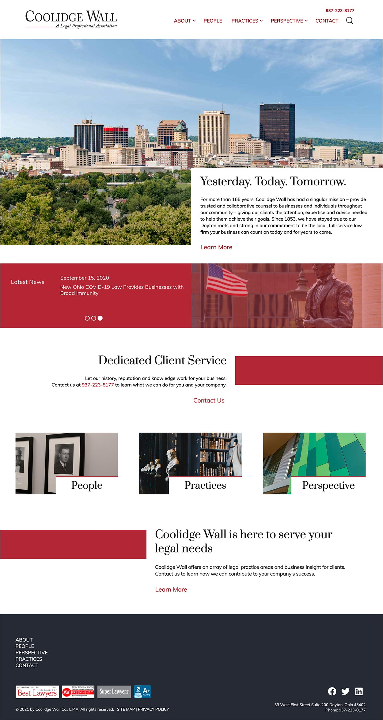Coolidge Wall Home Page