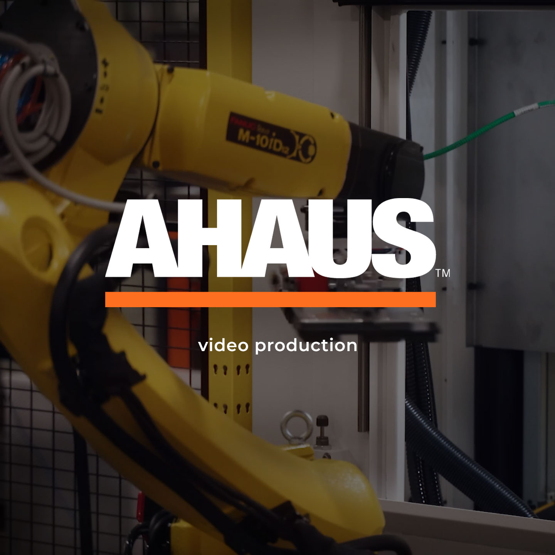 Ahaus case study logo and button