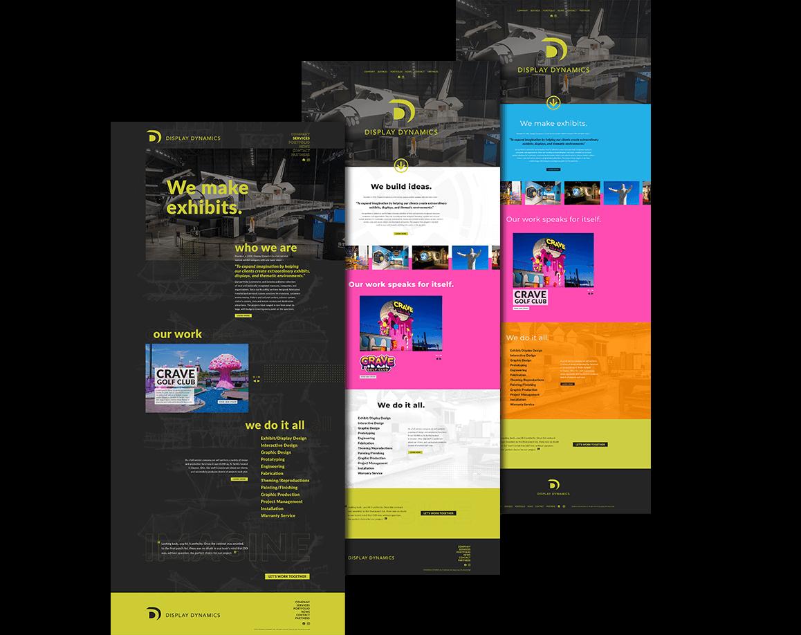 Display Dynamic Website Mockup
