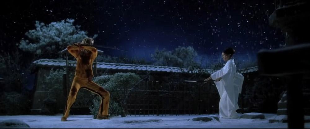 kill bill snow scene with ishi - top 10 best samurai movies