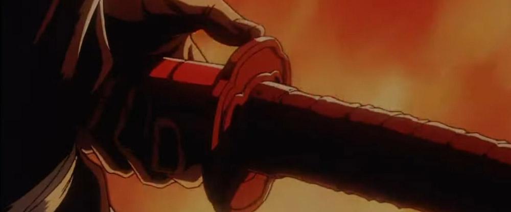 ninja scroll popping blade out of sheath - top 10 best samurai movies