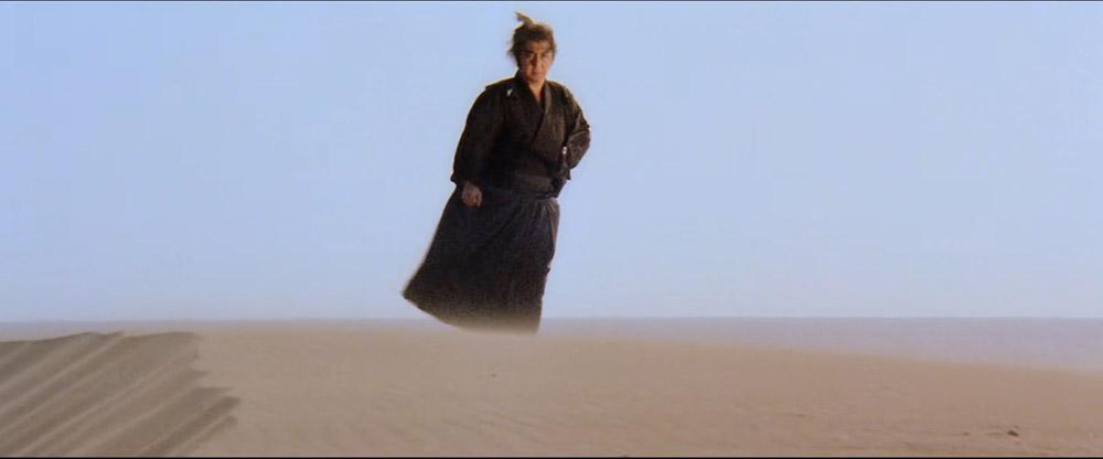 shogun assassin standing top of sand dune - top 10 best samurai movies