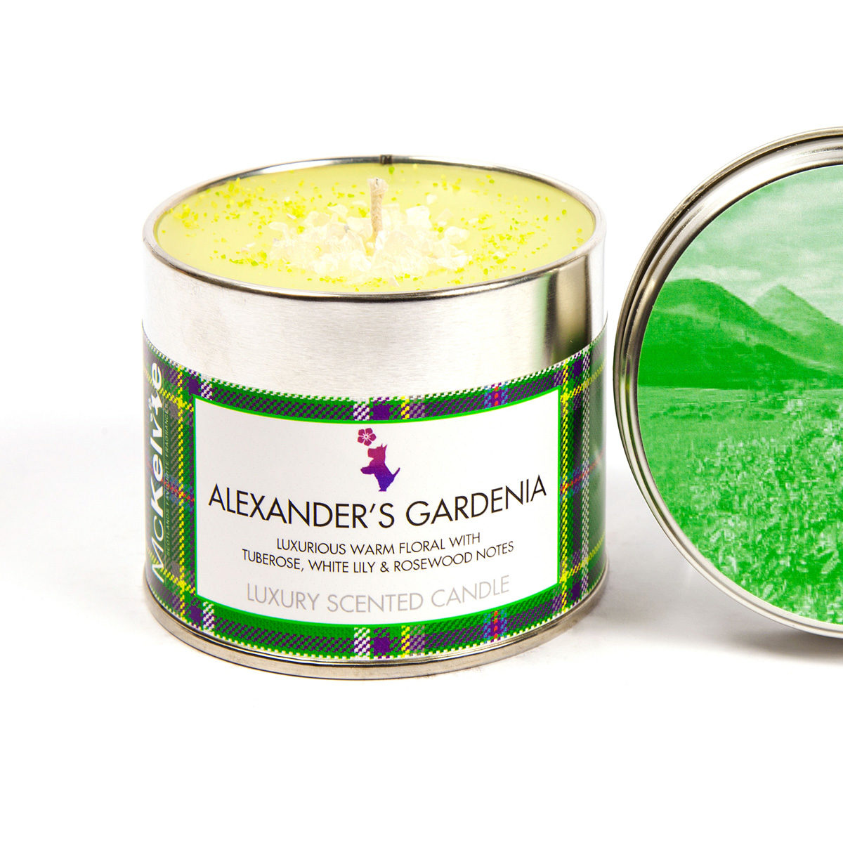 Alexanders Gardenia Scented Candle Tin