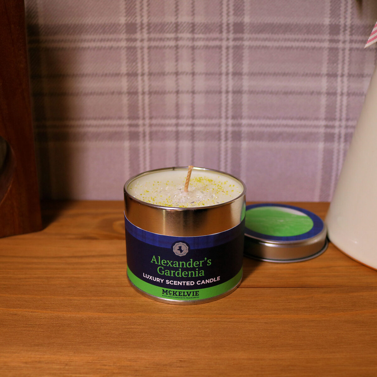 Alexander's Gardenia Scented Candle Tin
