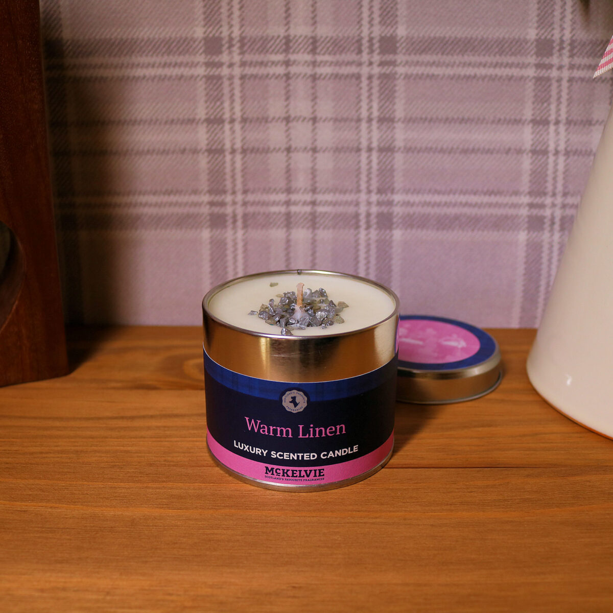 Warm Linen Scented Candle Tin