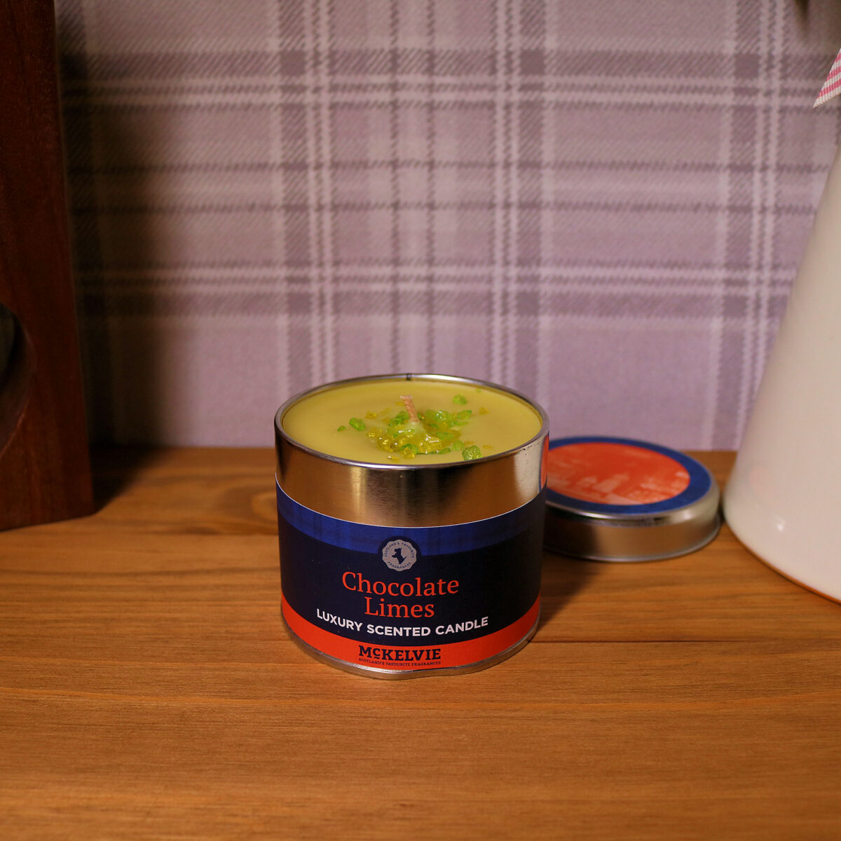 Chocolate Limes Scented Candle Tin