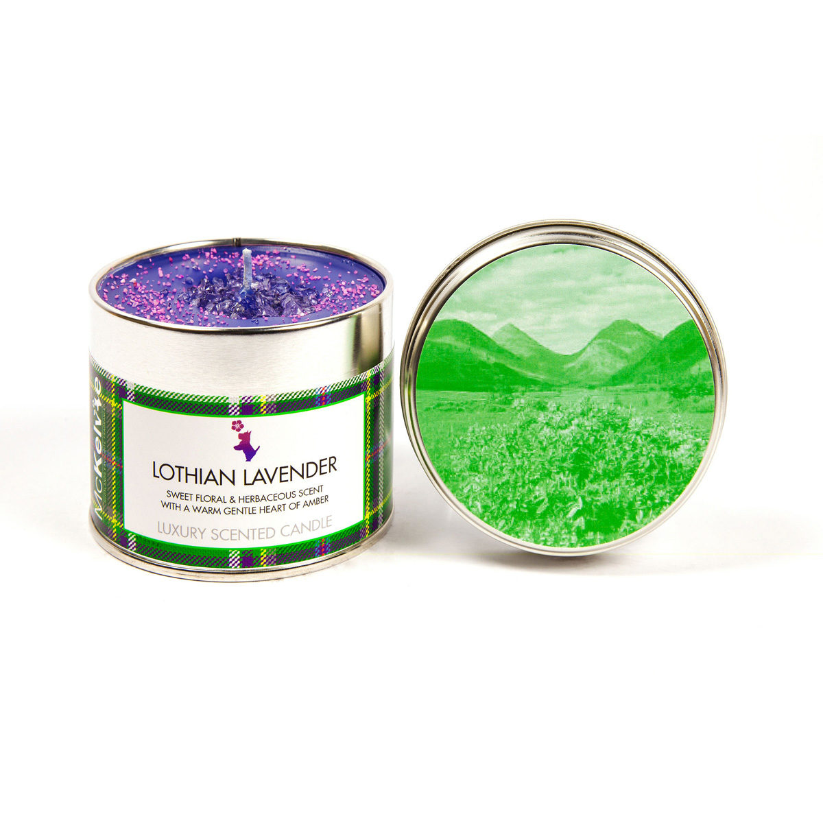 Lothian Lavender Scented Candle Tin