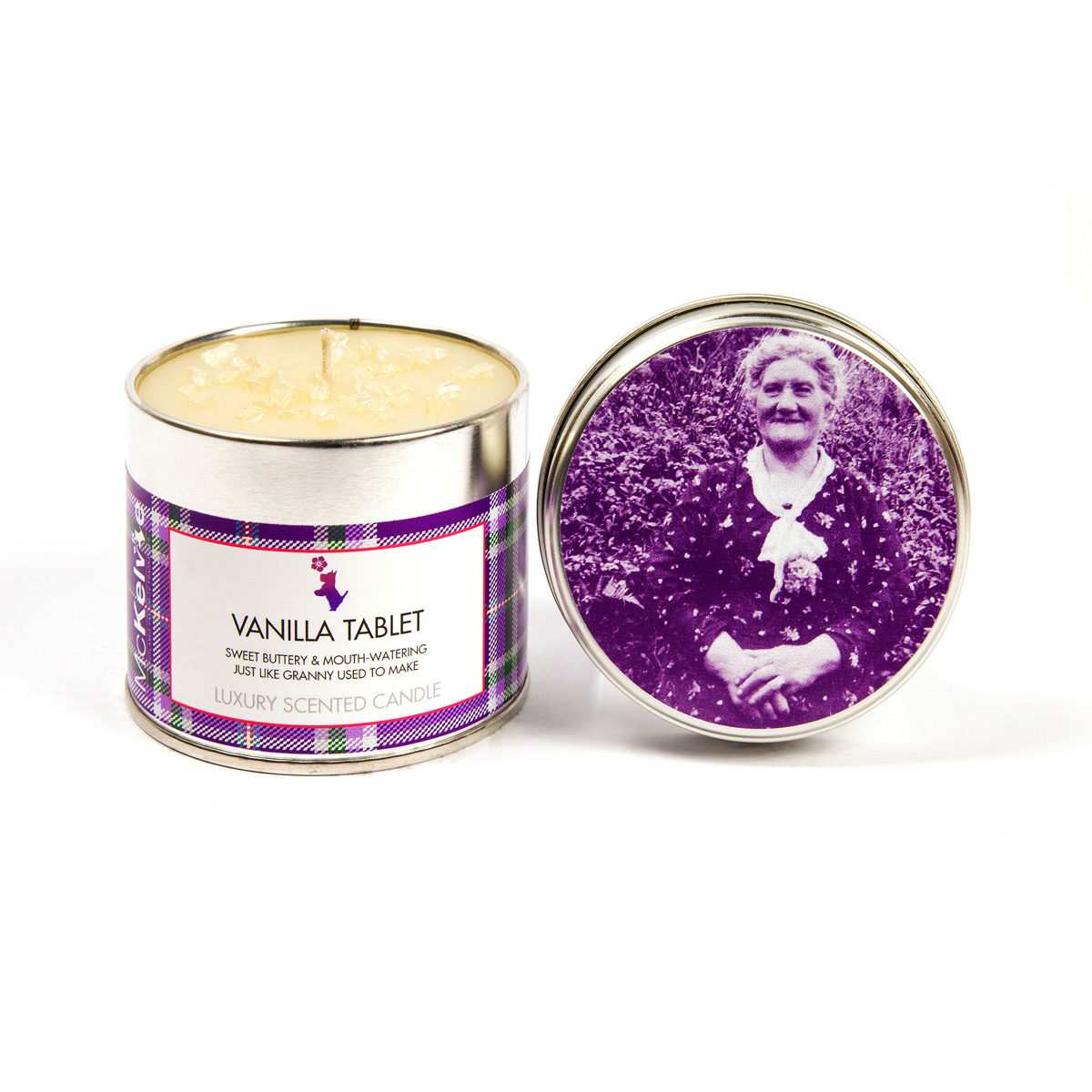 Vanilla Tablet Scented Candle Tin