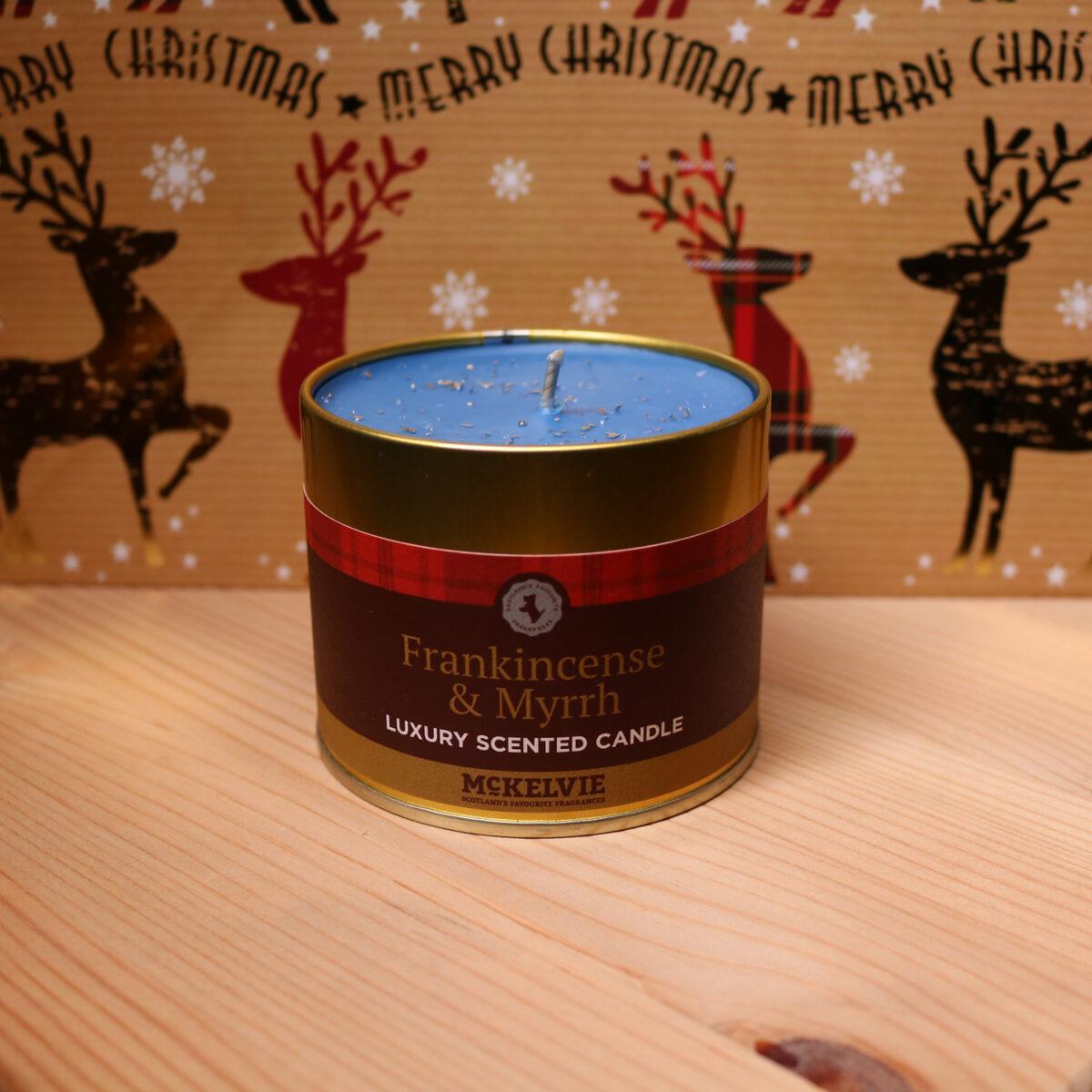 Frankincense & Mhyrrh Scented Candle Tin