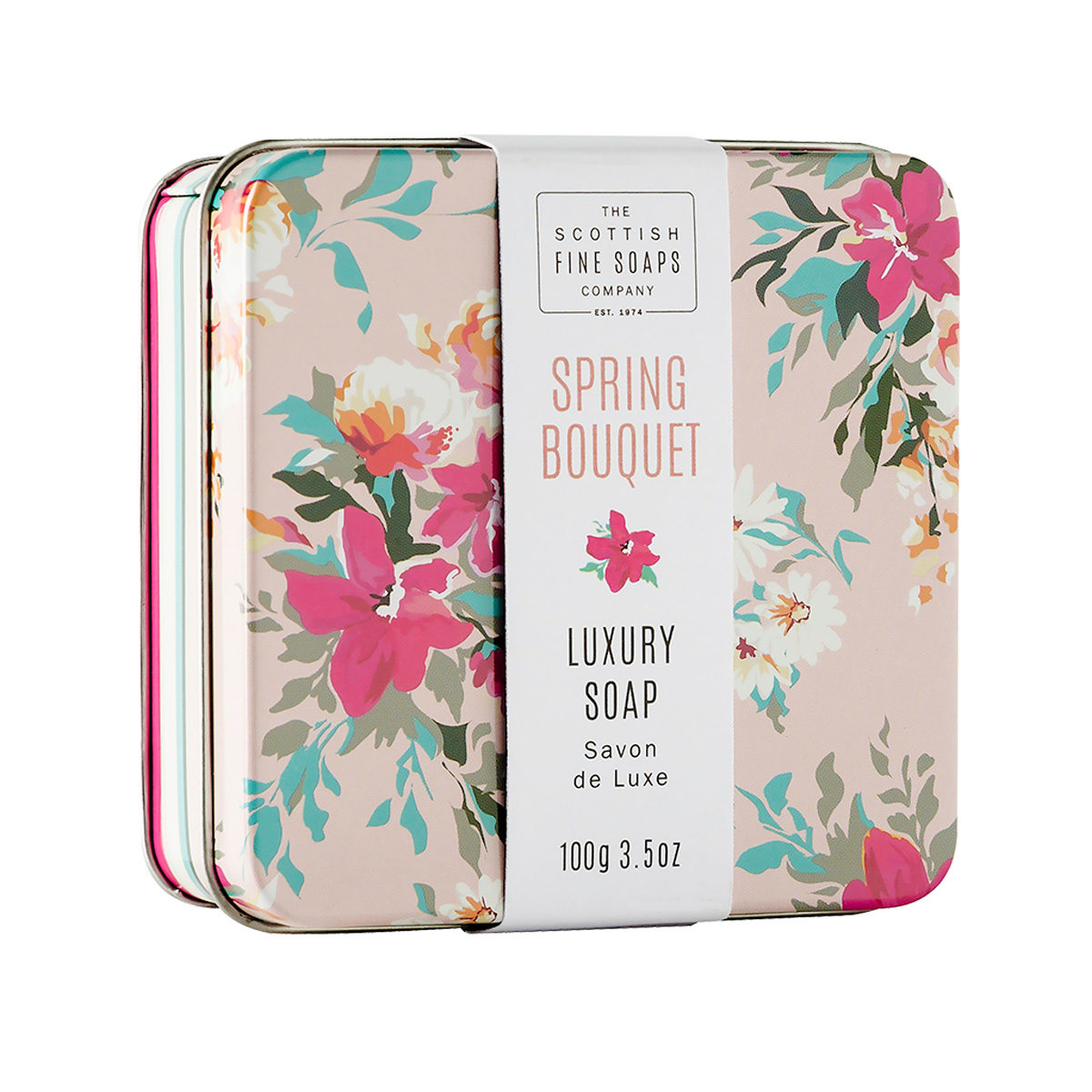 Spring Bouquet Soap In A Tin - Floral Collection