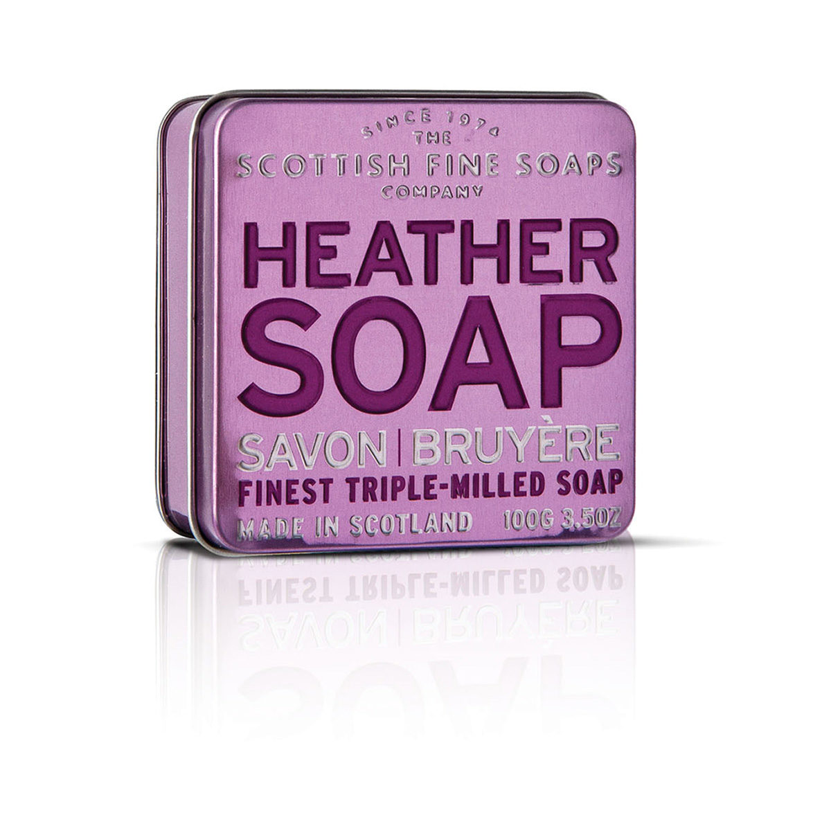 Heather Soap In A Tin - Scottish Collection