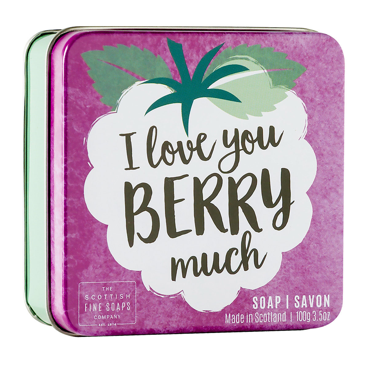 I Love You Berry Much Soap In A Tin – Fruits Collection
