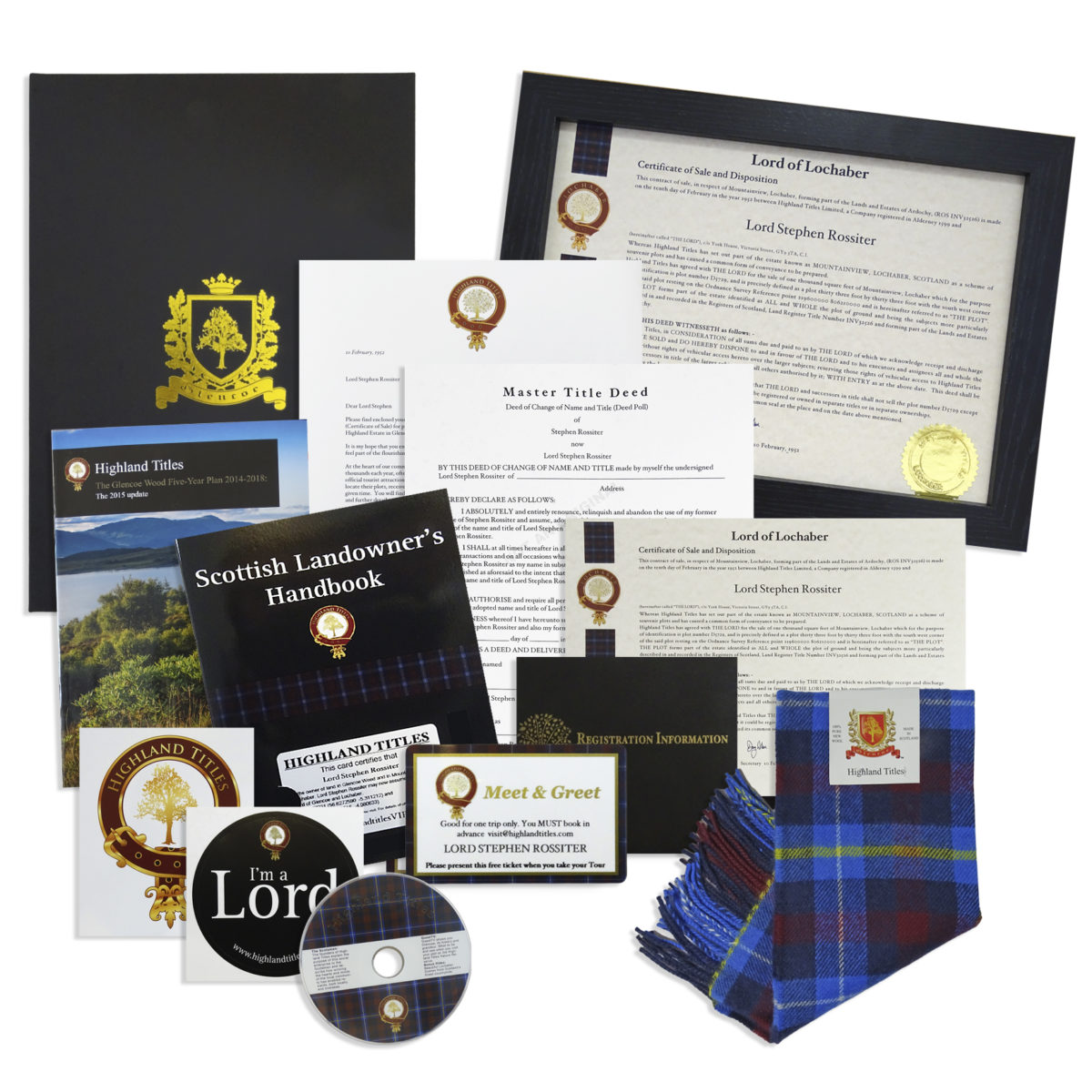 Become a Laird, Lord or Lady of Glencoe Package 4
