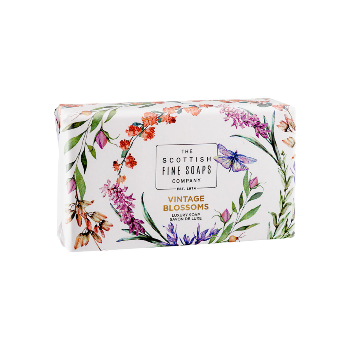 Vintage Blossoms Luxury Wrapped Soap – Nature Collection