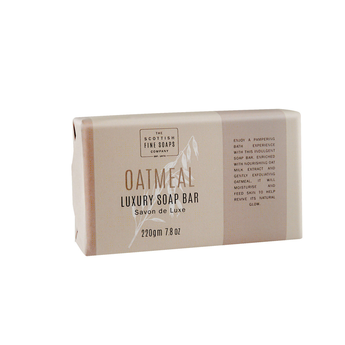 Oatmeal Luxury Wrapped Soap Bar