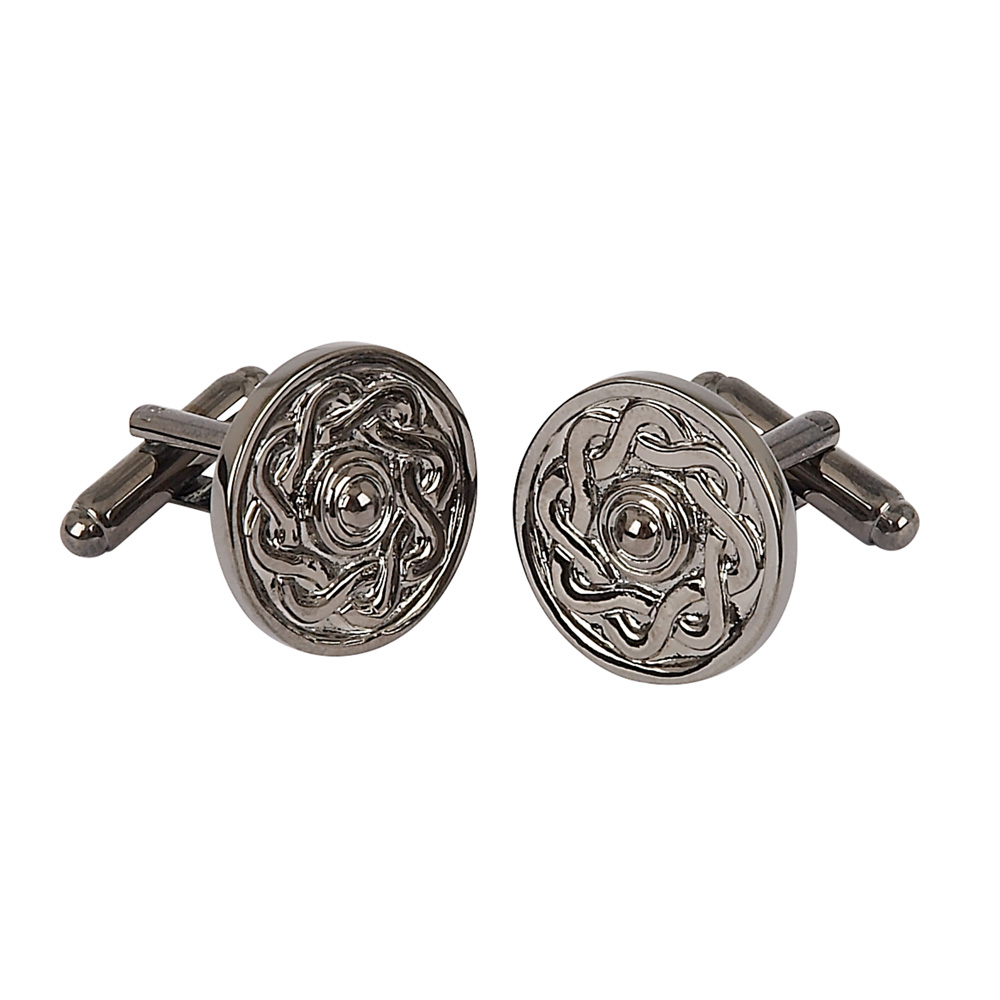 Gun Metal Grey Celtic Cufflinks