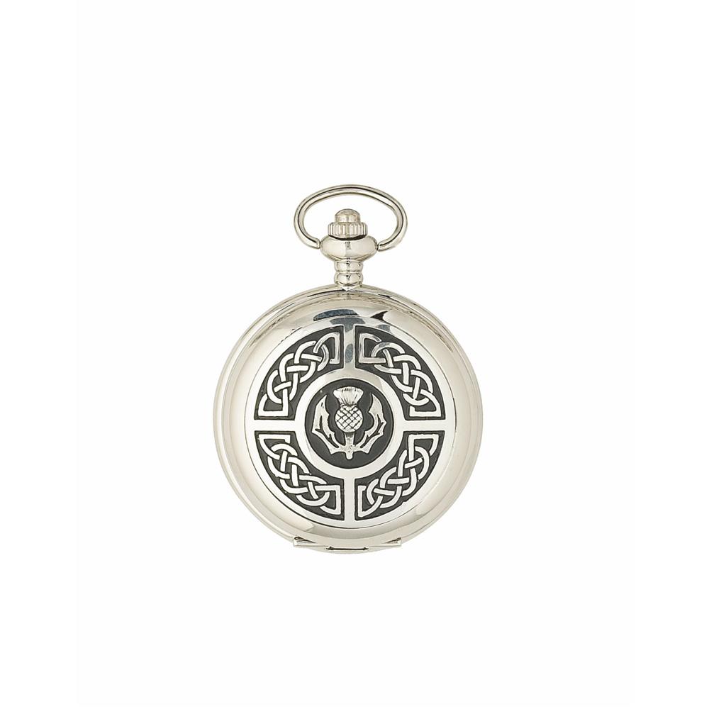 Celtic & Thistle Mechanical Pocket Watch