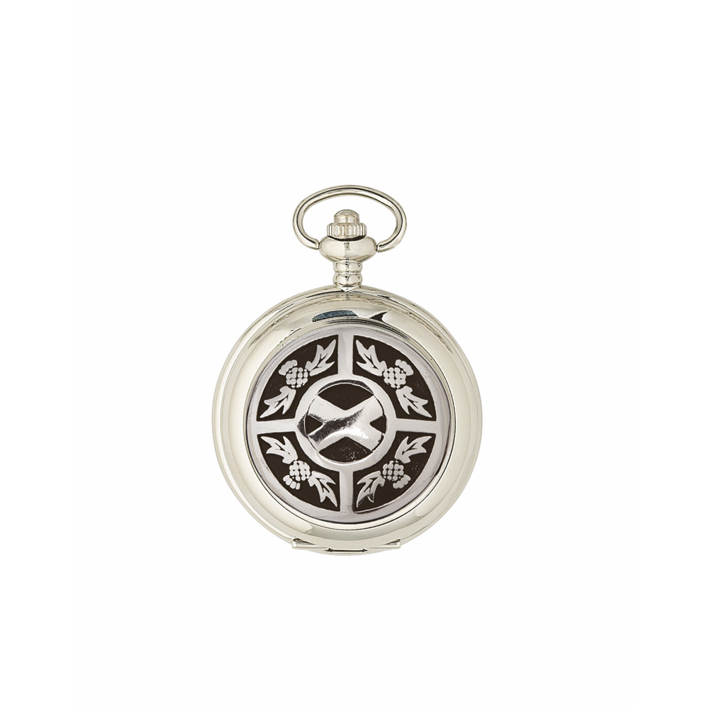Thistle & Saltire Quartz Pocket Watch