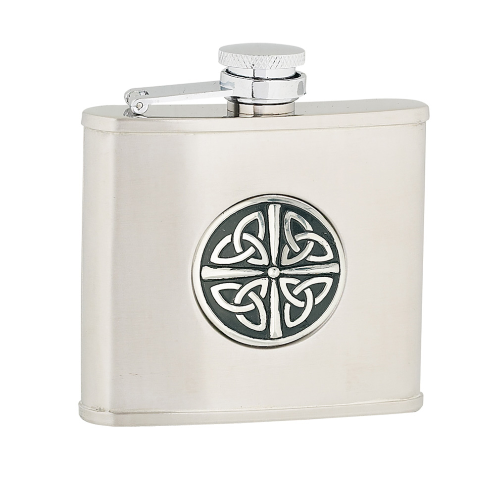 4oz Celtic Knot Stainless Steel Flask