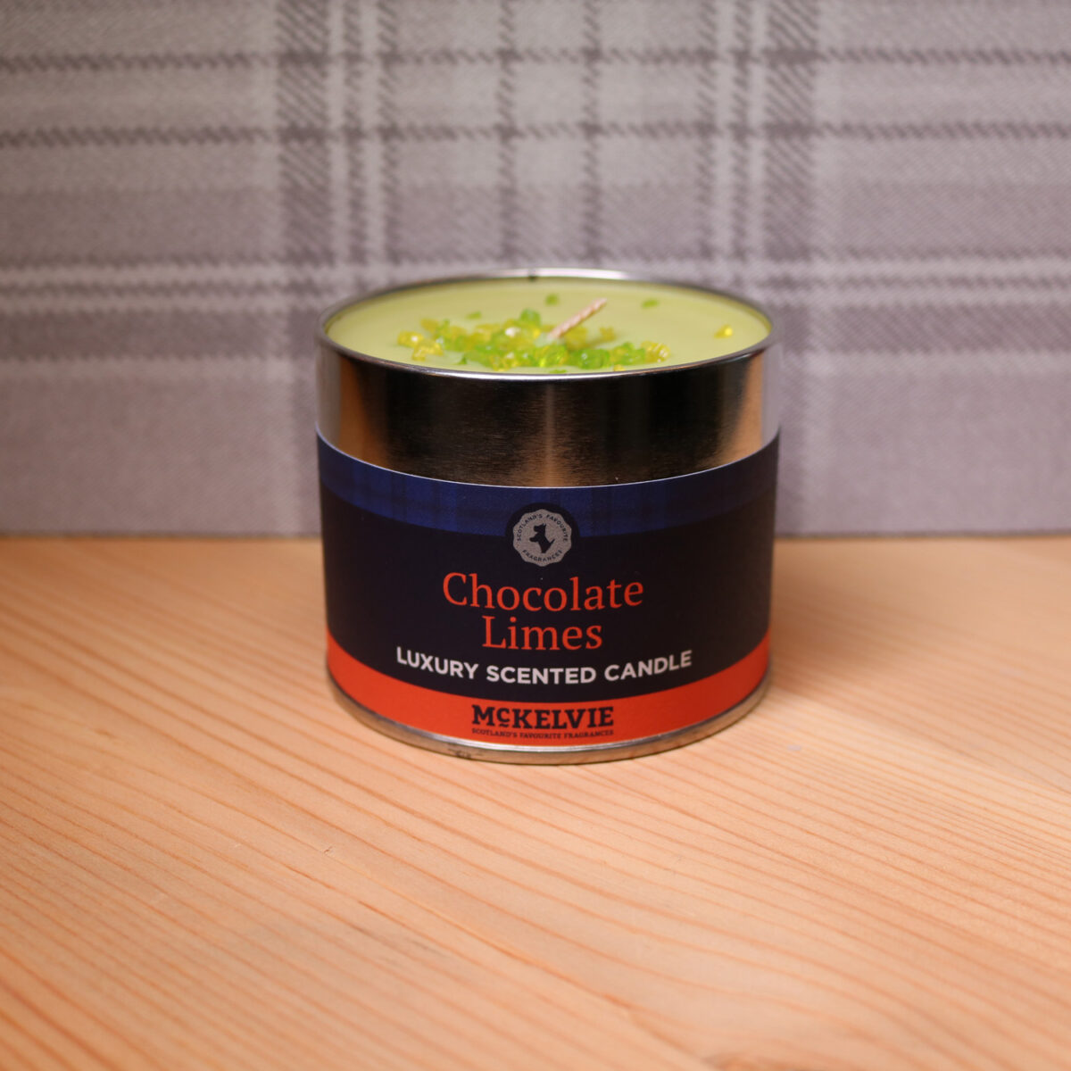 Chocolate Lime Scented Candle Tin