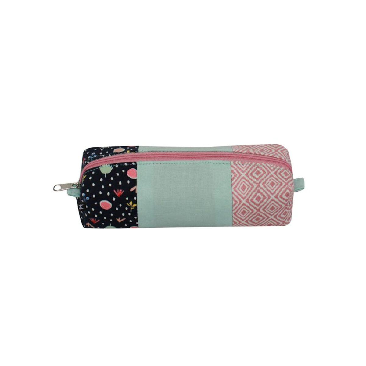 Blue Floral Pastals Pencil / Makeup Brush Case