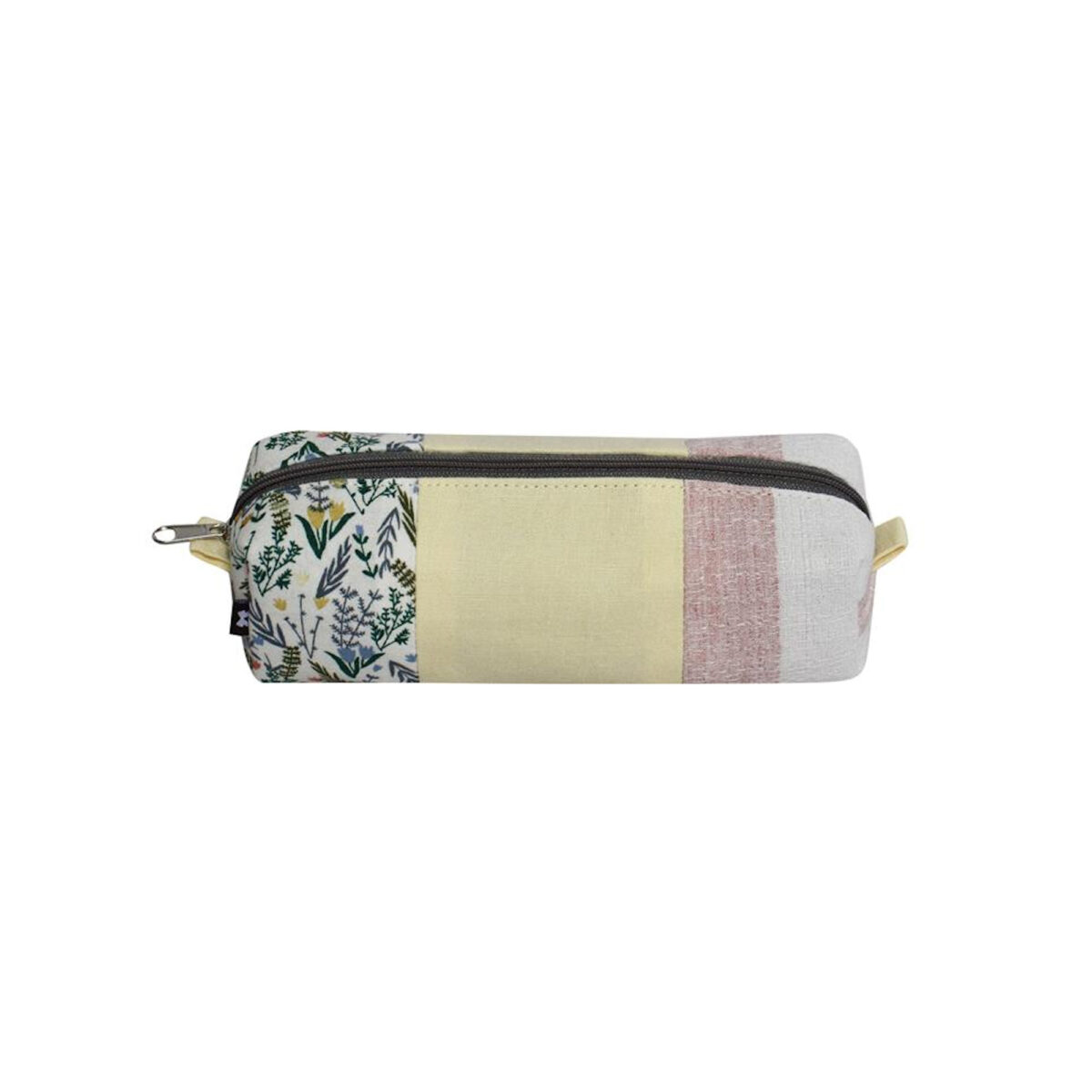 Yellow Floral Pastals Pencil / Makeup Brush Case