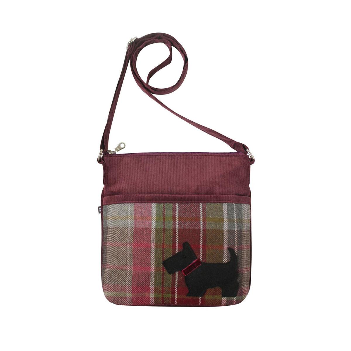 New Plum Highland Friends Tweed Amelia Bag