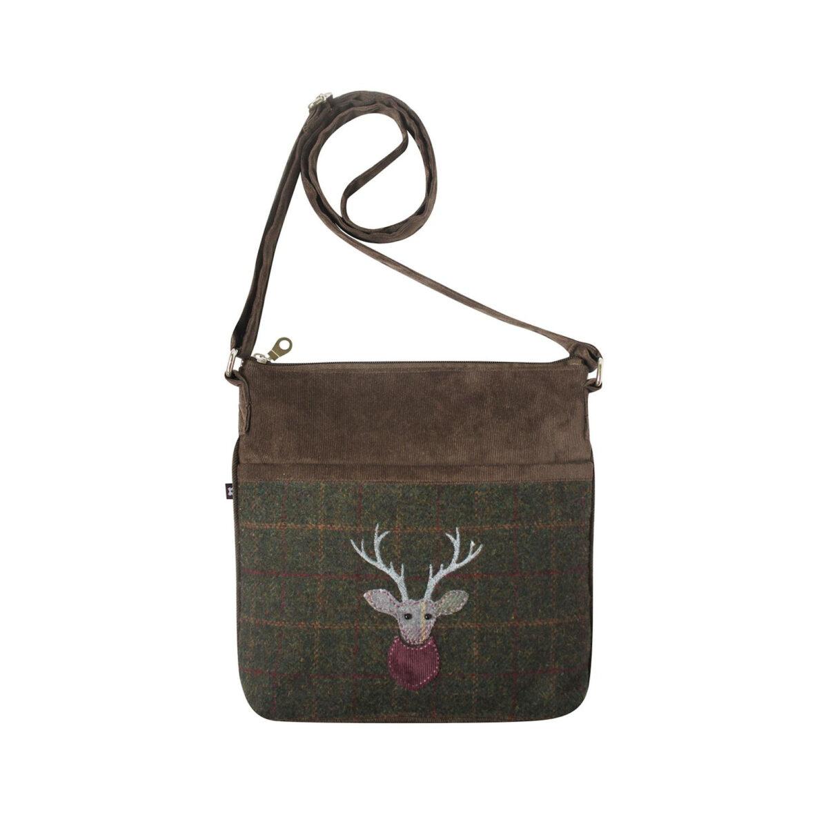 Green Highland Friends Tweed Amelia Bag