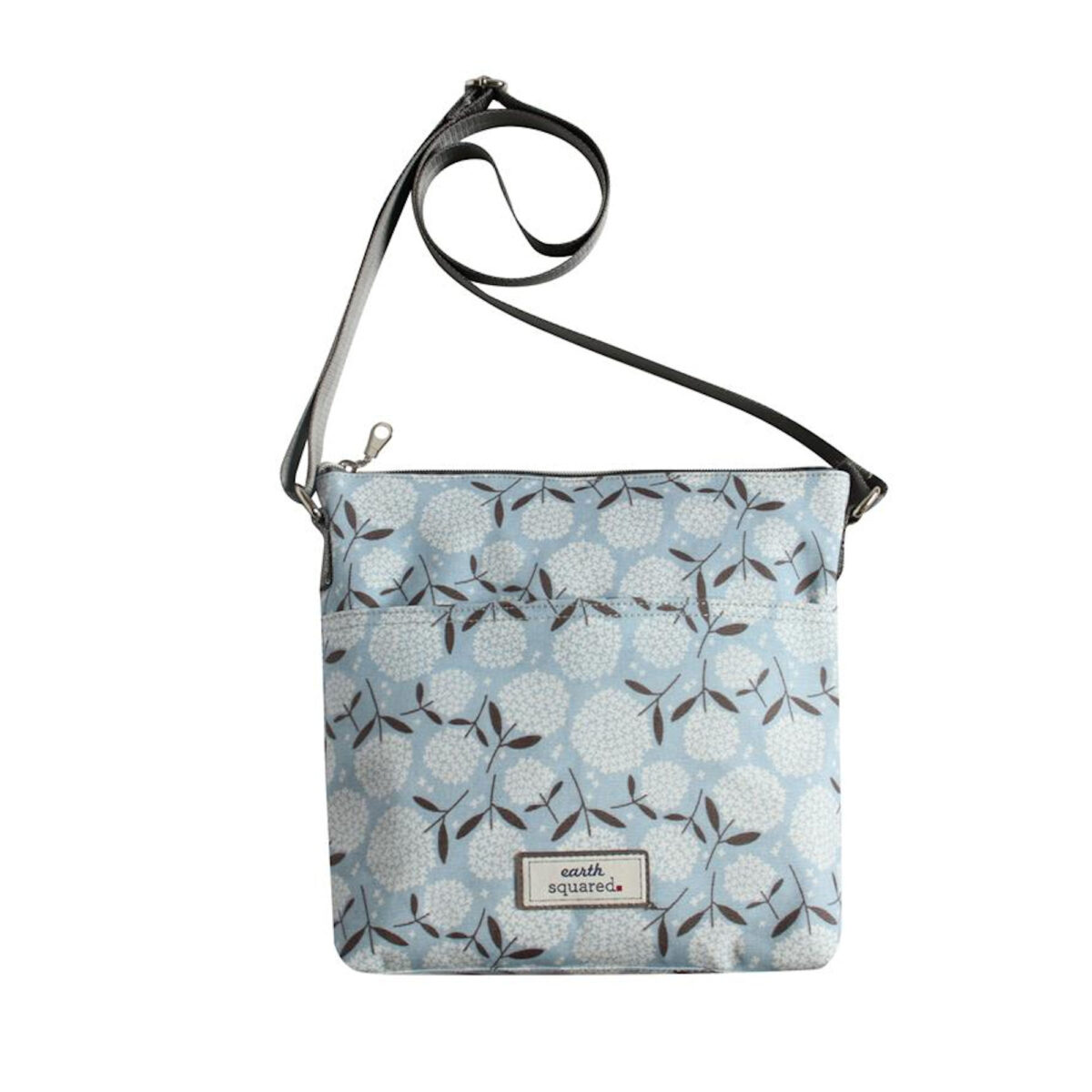 Big Bloom Oil Cloth Messenger Bag