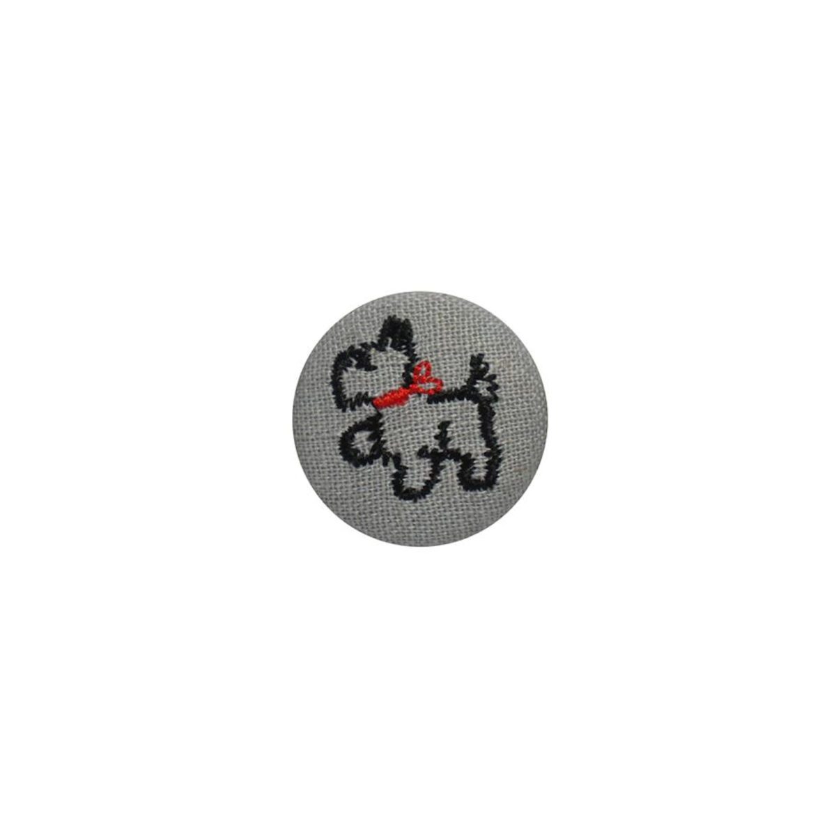 Grey Scottie Dog Badge