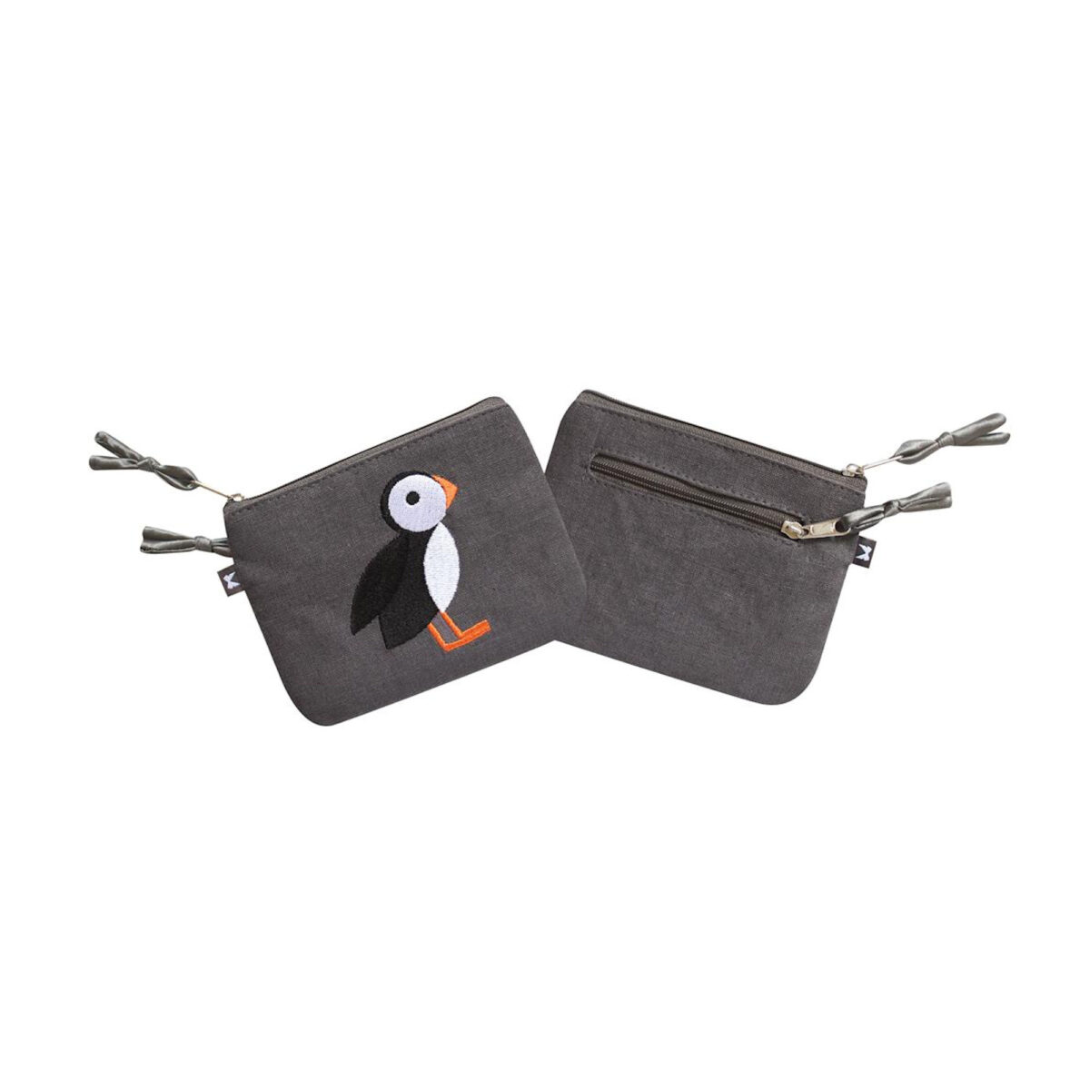 Grey Puffin Purse