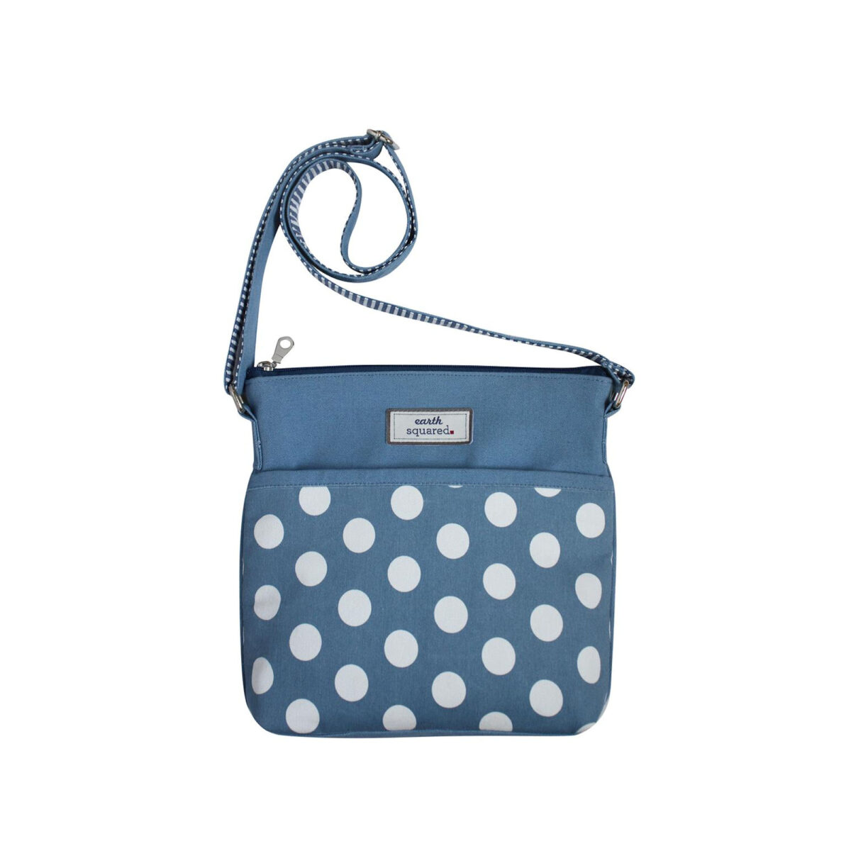 Blue Spotty Amelia Messenger Bag