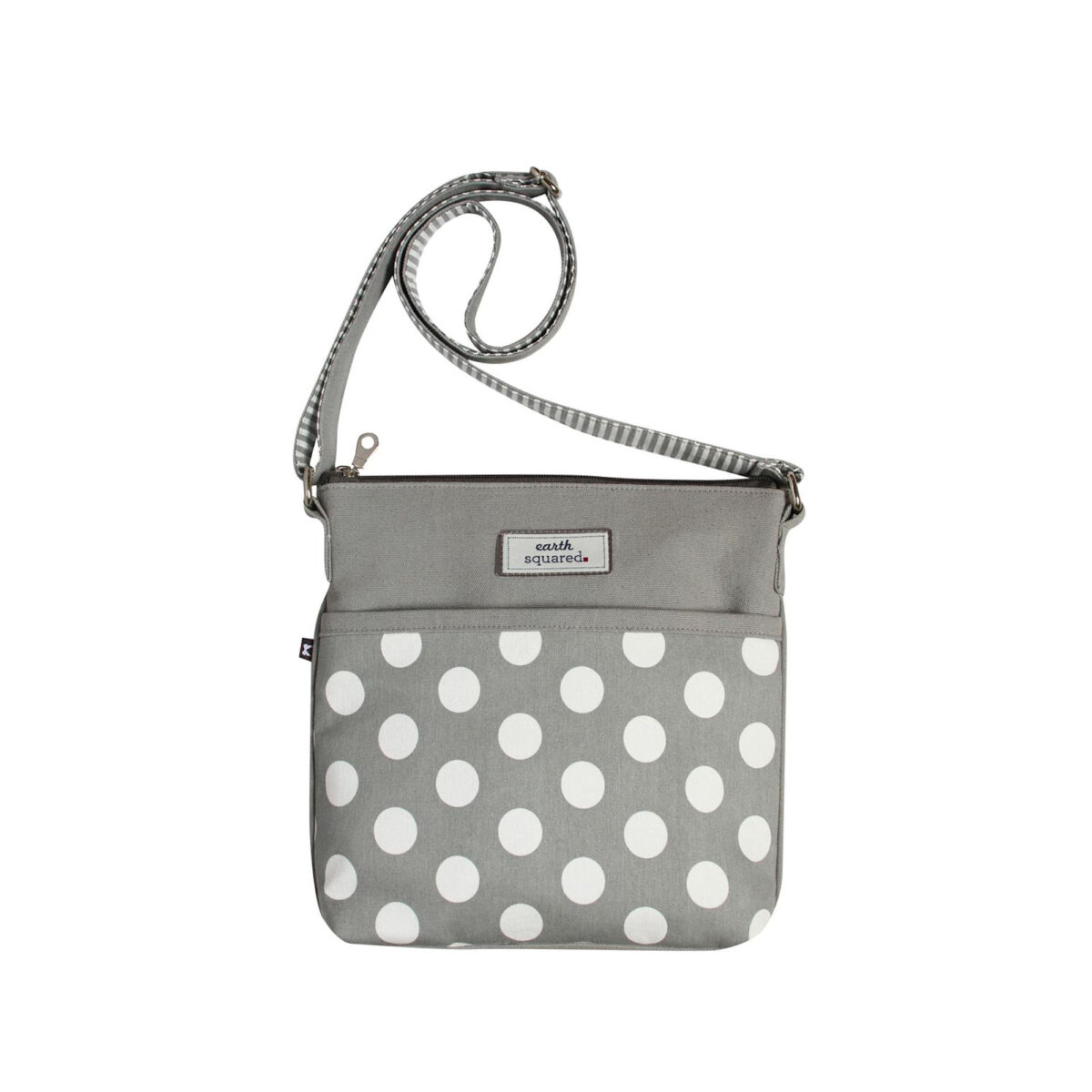 Grey Spotty Amelia Messenger Bag