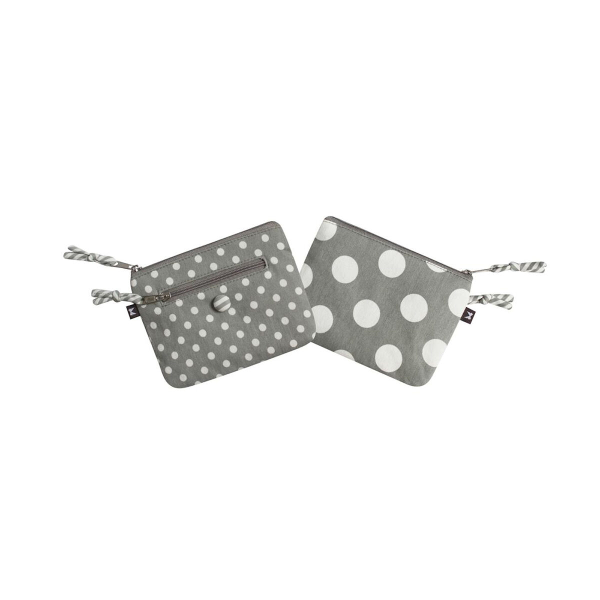 Grey Spotty Emily Purse