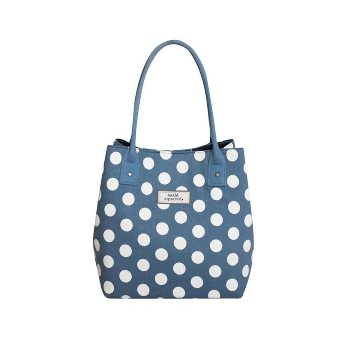 Blue Spotty Slouch Tote Bag